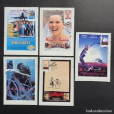"Sellos: 5 TARJETAS MÁXIMA AUSTRALIA 2008 ""FAVOURITES AUSTRALIAN FILMS"" PELÍCULAS - THE CASTLE - EL CASTILLO. Lote 225815500"