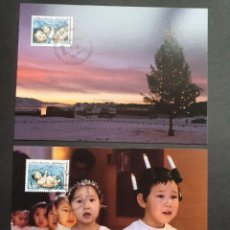 Sellos: 2 TARJETAS MÁXIMA GROELANDIA 2009: NAVIDAD, NADAL CHRISTMAS. Lote 226114475