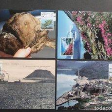 Sellos: 4 TARJETAS MÁXIMA GROELANDIA 2009: FISH, FIORDO, ESTACIÓN MISIONERA Y MINA. Lote 226115182