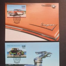 Sellos: 2 TARJETAS MÁXIMA ALAND 2005: CARS BUICK SUPER 4D HT Y OAKLAND CABRIOLET. Lote 226115752