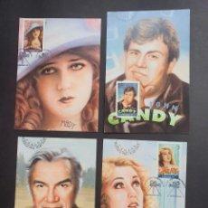Sellos: 4 TARJETAS MÁXIMA CANADA 2006: FILMS - M. PICKFORD, J. CANDY, L. GREENE, F. WRAY. Lote 226120638