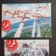 Sellos: 2 TARJETAS MÁXIMA CANADA 2006: AVIACIÓN SNOWBIRDS. Lote 226121150
