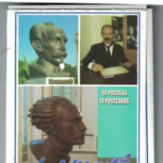 Sellos: O-CU3 CUBA 2016 JOSE MARTI - SCULPTURES - 16 POSTCARDS. Lote 226332145