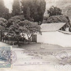 Sellos: COLOMBIA, QUINTA DE BOLIVAR EN BOGOTA, TARJETA MÁXIMA DE 1965. Lote 230061645