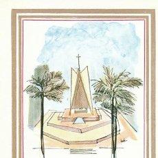 Sellos: VATICANO IVERT 419, ESTADIO OVAL Y ALTAR DEL PAPA EN BOMBAY, TARJETA MAXIMA DE 2-12-1964. Lote 230177165