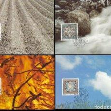 Sellos: LIECHTENSTEIN IVERT 1040/3, LOS CUATRO ELEMENTOS: AIRE, FUEGO, AGUA Y TIERRA, 4 MAXIMAS DE 5-12-1994. Lote 230184085
