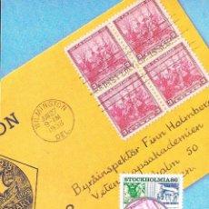 Sellos: SUECIA IVERT 1359, 350 ANIVERSARIO CORREO SUECO (EL CORREO DESDE ESTADOS UNIDOS), MÁXIMA 23-1-1986. Lote 230199400
