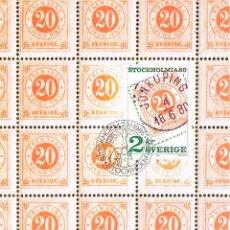 Sellos: SUECIA IVERT 1359, 350 ANIVERSARIO CORREO SUECO , MÁXIMA 23-1-1986. Lote 230199590