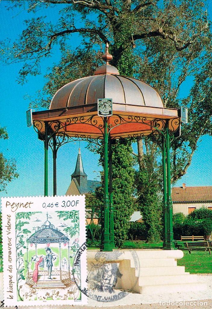 FRANCIA, KIOSKO DE LOS ENAMORADOS, TARJETA MÁXIMA DEL AÑO 2000 (Sellos - Extranjero - Tarjetas Máximas)