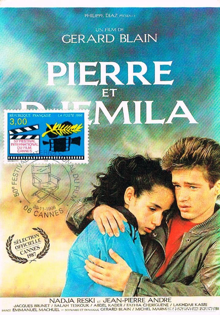 FRANCIA IVERT 3040, CINE: 50º FESTIVAL CINE DE CANNES, PIERRE ET DJEMILA, TARJETA MAXIMA 30-11-1996 (Sellos - Extranjero - Tarjetas Máximas)