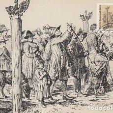 Sellos: ALEMANIA BERLIN IVERT 628, EMIGRANTES DE SALZSBURGO LLEGANDO A PRUSIA (CENTENARIO) MÁXIMA 5-5-1982. Lote 230249465