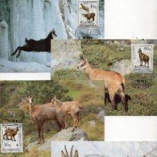 Sellos: ALBANIA, 1990 , TARJETA MAXIMA . MICHEL ,2423-2426. Lote 231341905