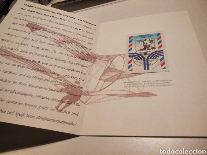 Sellos: Documento Filatélico Otto Lilienthal - Foto 2 - 233043765