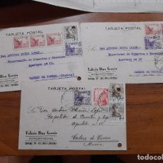 Sellos: 3 TARJETAS POSTAES 1949.. Lote 233911640