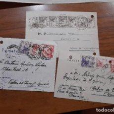 Sellos: 3 TARJETAS POSTAES 1949 Y 1952.. Lote 233912310