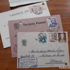 Sellos: 3 TARJETAS POSTAES 1943, 1945 Y 1952.. Lote 233920155