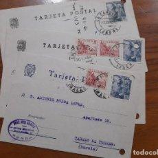 Sellos: 3 TARJETAS POSTAES 1954.. Lote 233926395