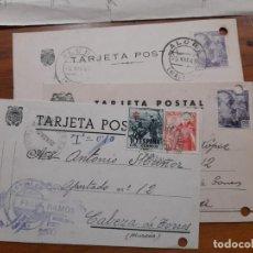 Sellos: 3 TARJETAS POSTAES 1945 Y 1952.. Lote 233961265