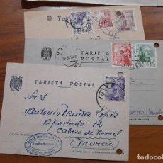 Sellos: 3 TARJETAS POSTAES 1945 Y 1949.. Lote 233961370