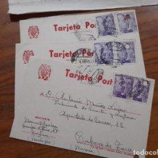 Sellos: 3 TARJETAS POSTAES 1952.. Lote 233961575