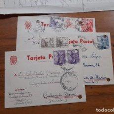 Sellos: 3 TARJETAS POSTAES 1949, 1952 Y 1953.. Lote 233961755