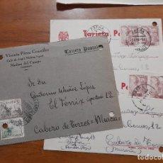 Sellos: 3 TARJETAS POSTAES 1943 Y 1956.. Lote 233962165