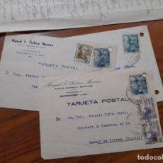 Sellos: 3 TARJETAS POSTAES 1949 Y 1953.. Lote 233962805