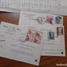 Sellos: 3 TARJETAS POSTAES 1953 Y 1954.. Lote 233963020