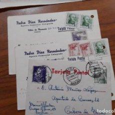 Sellos: 3 TARJETAS POSTAES 1949 Y 1956.. Lote 233963675