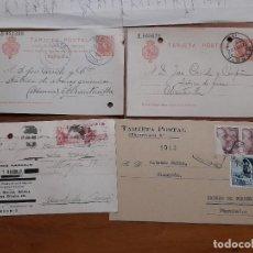 Sellos: 4 TARJETAS POSTAES 1907, 1939 Y 1954.. Lote 233964170