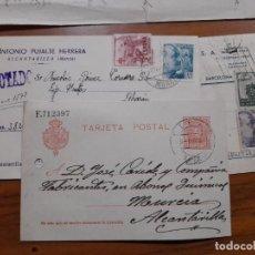 Sellos: 3 TARJETAS POSTAES 1907, 1944 Y 1953.. Lote 233964405