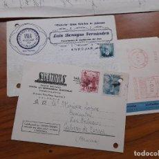 Sellos: 3 TARJETAS COMERCIAL 1935, 1953 Y 1958.. Lote 233964975