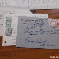 Sellos: 3 TARJETAS COMERCIAL 1949 Y 1952.. Lote 233965160