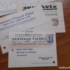 Sellos: 3 TARJETAS COMERCIAL 1945, 1946 Y 1956.. Lote 233965455