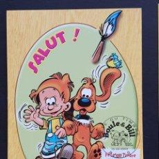 Francobolli: TARJETA MÁXIMA FRANCIA - FÊTE DU TIMBRE: COMIC, BOULE & BILL, SALUT!, PARIS 2002. Lote 234889095
