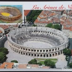 Francobolli: TARJETA MÁXIMA FRANCIA - LES ARÉNES DE NIMES 2002. Lote 234889680