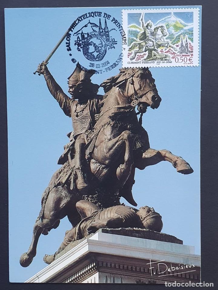 TARJETA MÁXIMA FRANCIA - STATUE DE VERCINGÉTORIX PAR BARTHOLDI, CLERMONT-FARRAND PUY-DE-DÔME 2004 (Sellos - Extranjero - Tarjetas Máximas)