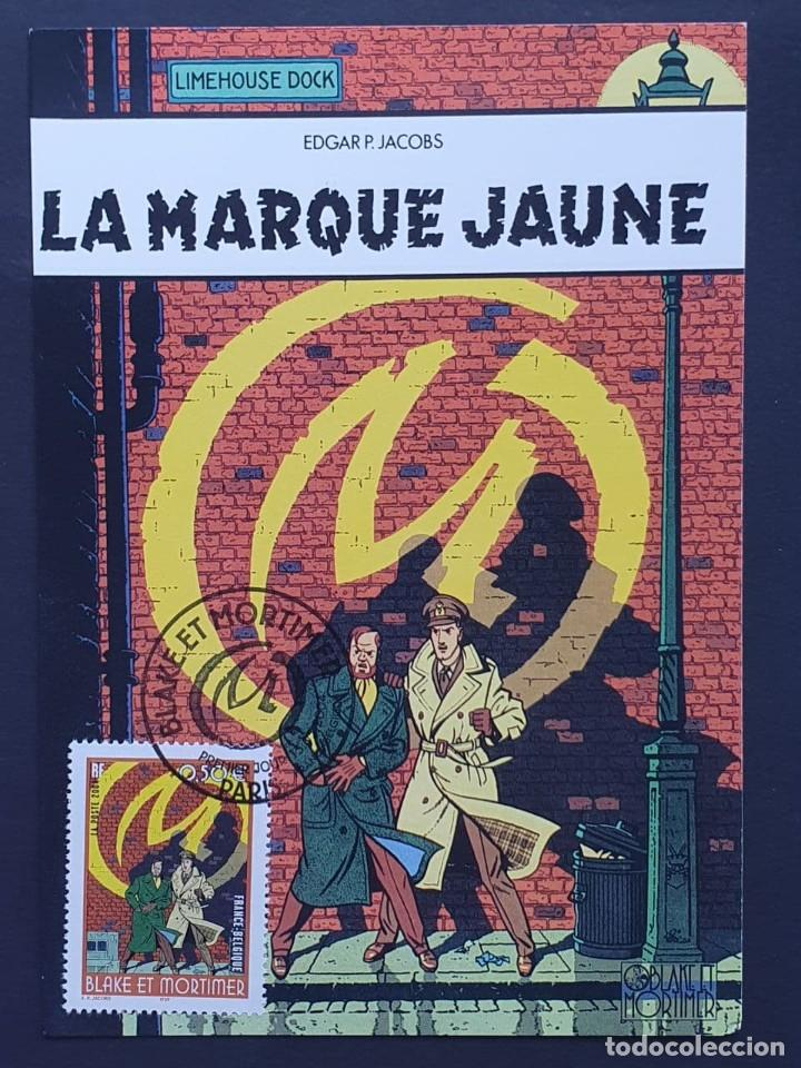 "TARJETA MÁXIMA FRANCIA - COMIC: EDGAR P. JACOBS ""BLAKE ET MORTIMER"" FRANCE-BELGIQUE, PARIS 2004 (Sellos - Extranjero - Tarjetas Máximas)"