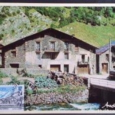 Sellos: TARJETA MÁXIMA ANDORRA - EUROPA: ANSALONGA ORDINO FR 1986. Lote 235498910