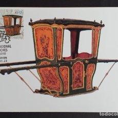 Sellos: TARJETA MÁXIMA PORTUGAL - MUSEU NACIONAL DOS COCHES: LITEIRA S. XVIII, LISBOA 2005. Lote 235568900