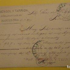 Sellos: ANTIGUA TARJETA POSTAL.F.ARMENGOL Y TARRIDA.BARCELONA 1885.. Lote 235569065