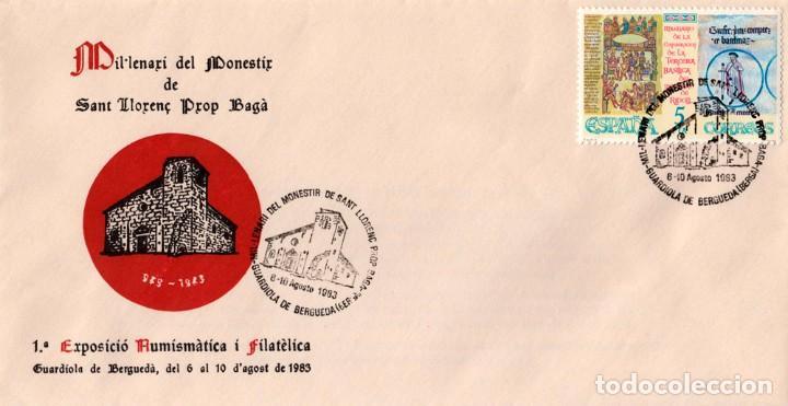 Sellos: SOBRE Y TARJETA 1º EXP. FILATÈLICA I NUMISMÀTICA 1983 - Foto 2 - 129076731