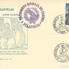 Selos: TARJETA FILATELICA CASTELAO, 9/1/1975. Lote 237410460