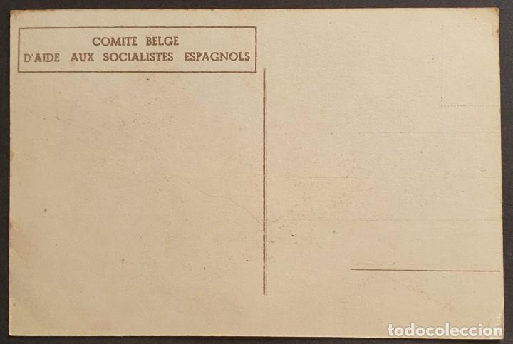 Sellos: Guerra Civil: COMITE BELGE DAIDE AUX ESPAGNOLS Muy rara Emitida en Bélgica. - Foto 2 - 240015040