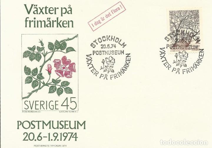 POSTMUSEUM. SVERIGE. SUECIA. 20-6-1974. SELLO Y MATASELLOS. ESTOCOLMO. VAXTER PA FRIMARKEN. (Sellos - Extranjero - Tarjetas)