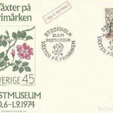 Sellos: POSTMUSEUM. SVERIGE. SUECIA. 20-6-1974. SELLO Y MATASELLOS. ESTOCOLMO. VAXTER PA FRIMARKEN.. Lote 241076245
