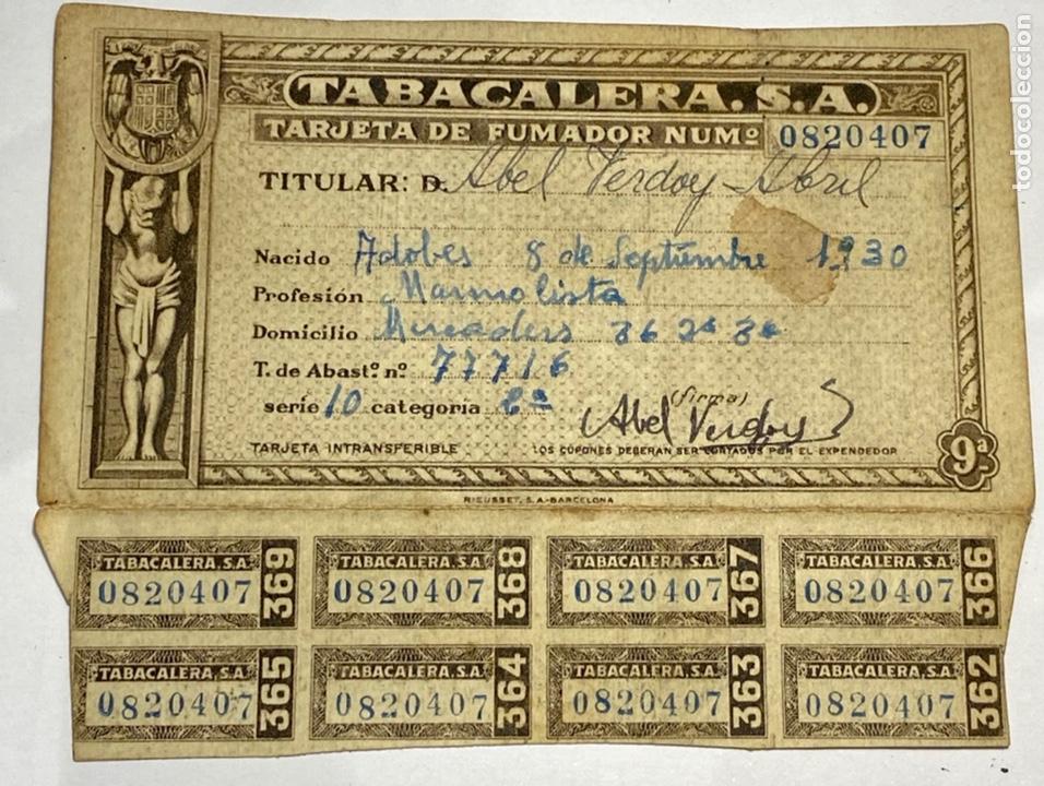 TARGETA DE FUMADOR (Sellos - España - Tarjetas)
