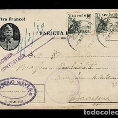 Sellos: C-NC-103 GUERRA CIVIL POSTAL PATRIOTICA CIRCULADA DE TORO A BARCELONA EL 8-MAR-39 CON CENSURA MILIT. Lote 243471525