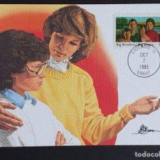 Sellos: TARJETA MÁXIMA USA - 50 AÑOS DE LA FEDERACIÓN DE GRAN HERMANO, CHICAGO, IL 1985. Lote 244531050