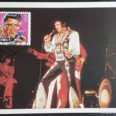 Sellos: TARJETA MÁXIMA USA - ELVIS PRESLEY CANTANTE DE ROCK, MEMPHIS, TN 1998. Lote 244534300